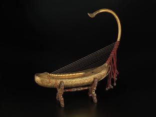 Saung-Gauk. 19th Century. Burmese harp.