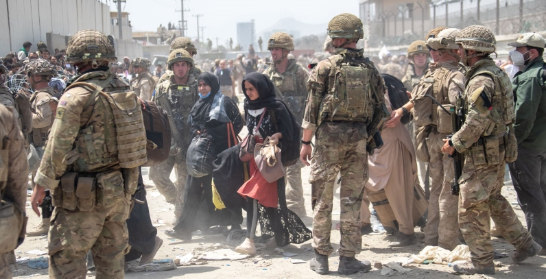 British and American forces work to evacuate civilians from Kabul amid the Taliban takeover. Photo: MoD Crown Copyright via Getty Images