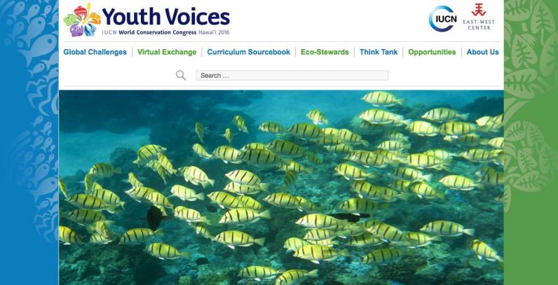 IUCN YOuth Voices website