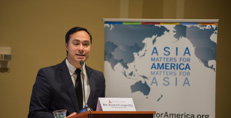 •Representative Joaquin Castro (TX), Co-Chair, Congressional Caucus on ASEAN gives opening remarks at the reception launching the updated ASEAN Matters state and district one pagers.