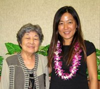 Sumi Makey with Clare Chan, the first recipient of the Sumi Makey Scholars Award