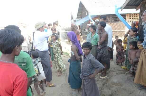 Stateless people at Rohingya internment camp in Myanmar
