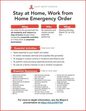 Stay at home order poster