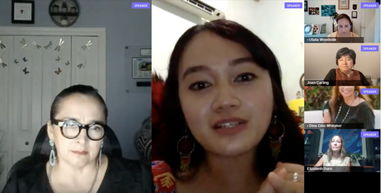 Panelists on Zoom discussing Indigenous Environmentalism