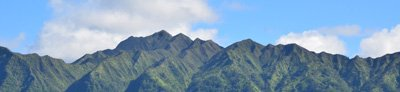 view of the mountains from Hale Manoa