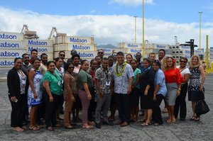 Group photo of 2017 PILP Participants with VP of Pacific-Matson Navigation Company, Vic Angoco, Sr.
