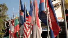 Flags of the ASEAN nations. Source: Flickr user Prachatai.