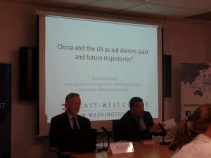 Left to right: Dr. Patrick Kilby and Dr. Satu Limaye. Image: Jaichung Lee, East-West Center in Washington