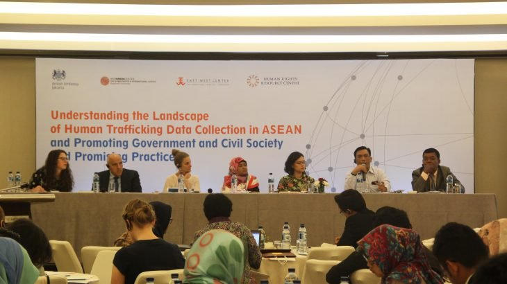 Launch of study on human trafficking data collection in ASEAN, Jakarta, 29 March 2018