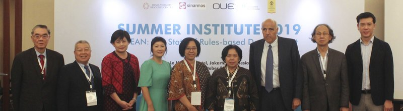 "Speakers at the Summer Institute 2019 on ""ASEAN: The State of Rules-based Development"" (Source: HRRC)"