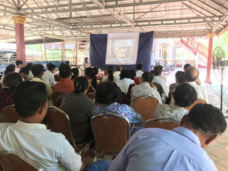 """Facing Justice"" outreach on the Khmer Rouge Trials in Cambodia, Svay Rieng Province, 30 October 2019"