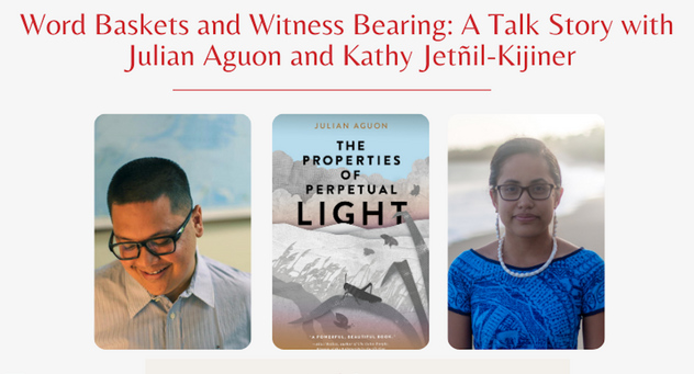 Pacific authors Julian Aguon and Kathy Jetñil-Kijiner for EWC virtual talk-story