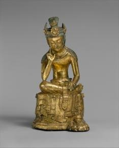 Pensive Bodhisattava. Three Kingdoms period (57B.C.-A.D. 676) Mid-7th century. Korea. Photo credit: Metropolitan Museum of Art.