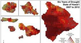 Severity map of drought in Hawaii between 2007 and 2012