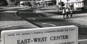 Old East-West Center sign