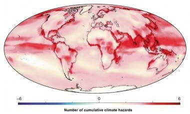 Map of climate hazards