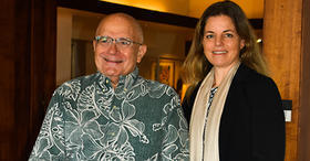 East-West Center President Richard R. Vuylsteke and Hawai'i Green Growth Executive Director Celeste Connors