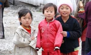 North Korean children at a food aid center
