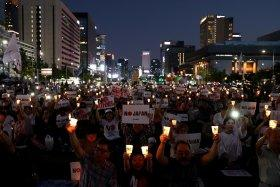 Anti-Japan demonstration in Seoul.