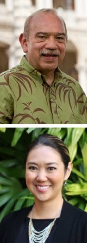 John Waihe'e and Lynn Miyahira