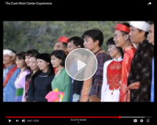 """East-West Center Experience"" video thumbail pic"