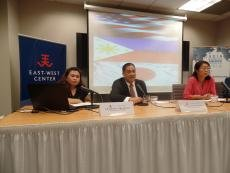 From left to right: Charmaine Deogracias, Renato Cruz de Castro, Yuki Tatsumi, and Dr. Satu Limaye.