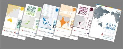 Covers of Asia Matters for America booklets.