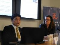 Left to right: Dr. Yasuhiro Matsuda and Dr. Sheila Smith
