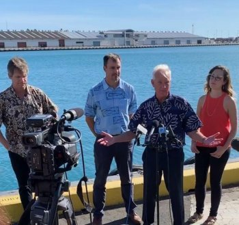 Press conference with Honolulu Mayor Kirk Caldwell