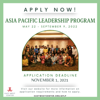 2022 Asia Pacific Leadership Program - Applications Now Being Accepted