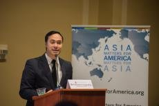 Representative Joaquin Castro (TX), Co-Chair, Congressional Caucus on ASEAN gave opening remarks.