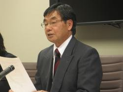 (Click to enlarge) Mayor of Nago City, Okinawa, Susumu Inamine discusses the local resistance to the plan to expand an existing US military facility in Nago to accomodate the Marine Corps Air Station Futenma.