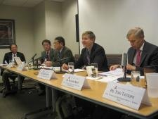 Experts from the United States and Japan speak on maritime security challenges at the East-West Center in Washington