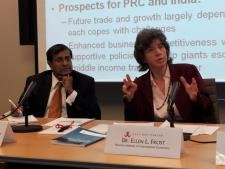 Dr. Ganeshan Wignaraja and Dr. Ellen Frost discuss the future of prospects for India and China's growing economies at the East-West Center in Washington